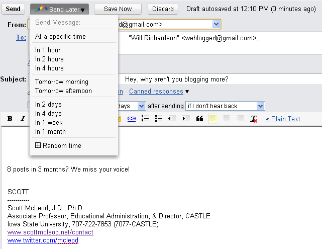 Enhancing your e-mail productivity - Boomerang for Gmail and